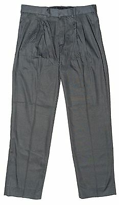 Big Boys Pleated Trousers Classic Grey Charcoal School Pants