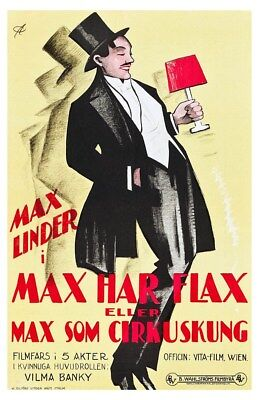 Max Linder King Of The Circus 1925 Swedish Silent Movie Poster