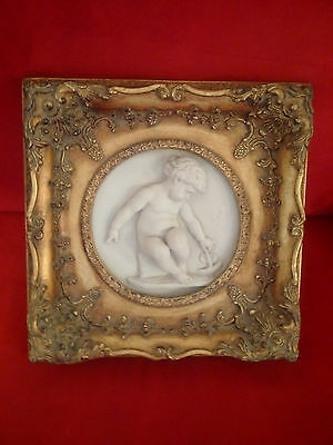 After Edward William Wyon, Marble Tondo Putto great condition
