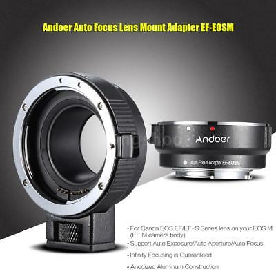 Andoer EF-EOSM Lens Mount Adapter Ring for Canon EF/EF-S Lens to EOS M EF-M