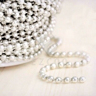 4m Unfinished Bulk Chains Necklace Silver Ball Chain Wholesale 2.4x2.4mm CA