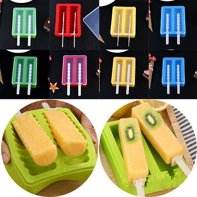 Silicone Ice Cream Mold Mould Maker Tool Push Up Tray Pan Jelly Summer