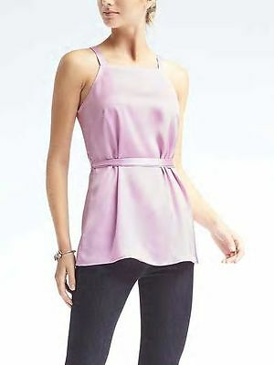 839d1d4dd04271 NWT BANANA REPUBLIC easy care apron wrap xs lilac top shirt blouse ...