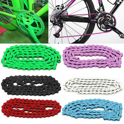 Bicycle MTB BMX Road 1/2''X 1/8'' Fixied Chain Single Speed 96Link Chain 6Colors