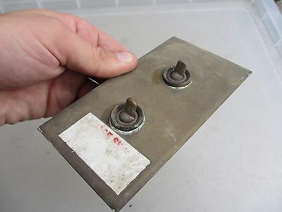 Vintage Brass Double Light Switch Art Deco Antique Old Iron Industrial Factory