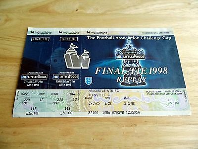 1998 FA Cup Final Replay Unused Ticket (Newcastle Utd Seat)