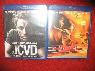Action Blu-Ray Movie Lot - Vin Diesel XXX and Jean Claude Van Damme in JCVD