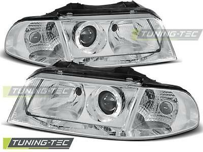 Scheinwerfer Set Audi A4 B5 Facelift BJ 01.99-11.00 Klarglas / Chrome