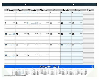 2018 Debden Table Top Planner Month to View Desk Pad 440x560mm 3901.C59-18