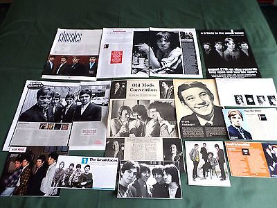 The Small Faces -Steve Marriott - Pop Music Clippings /cutting Pack