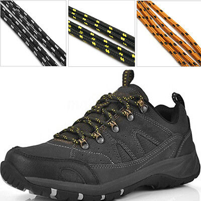 110cm Strong Round Hiking Boot Laces Walking Shoelaces Ridged Boots Shoes Laces