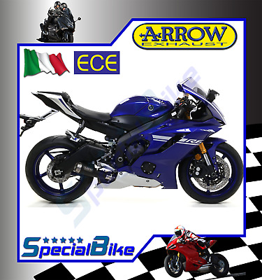 Exhaust Arrow Pro Race Yamaha Yzf R6 2017 Nichrom Dark 2 Silencers Euro 4