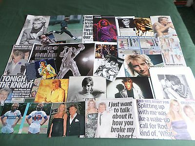 Rod Stewart - Pop Music Clippings /cutting Pack