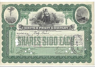 United Fruit Company......1910 Stock Certificate