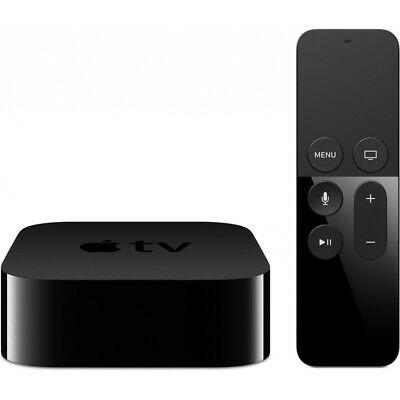 Apple Tv 4. Generation 32Gb Schwarz Mit Siri Remote Fernbedienung Streaming