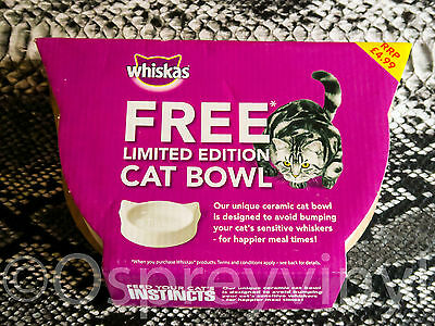 Limited edition Whiskas Cat Bowl Brand New and boxed Deleted Whiskers Qty 1