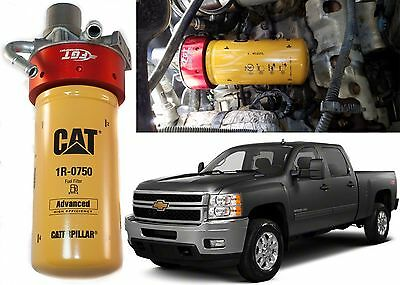 CAT Fuel Filter Adapter Conversion Kit For 2001-2016 Duramax New Free Shipping