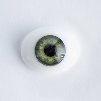 20mm ~ Oval Glass Green Eyes ~ Reborn Baby Doll Supplies 545