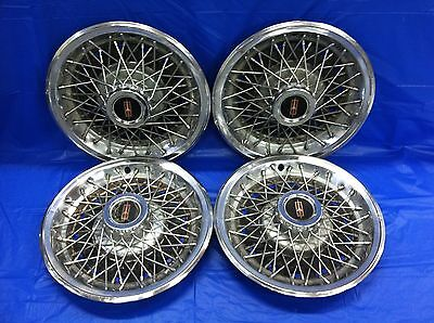 "Vintage Set Of 4 1979–82 Oldsmobile 14"" Hubcaps Cutlass Good Condition"
