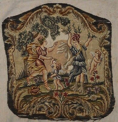 Antique Tapestry Colorful Chair Cover Panel Angels