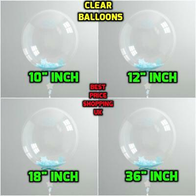 """WHOLESALE Round Clear Transparent 18""""  Large Giant Balloon For Birthday Easter"""