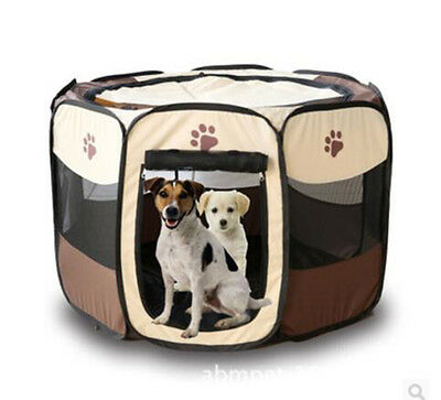 600D Oxford Foldable Portable Dog Pet Cat PlayPen Outdoor Soft Cage Kennel Tent