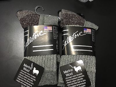 Kids Merino Wool Crew Hiking Socks Ballston, REI Over run , Made in USA Gray 2pk