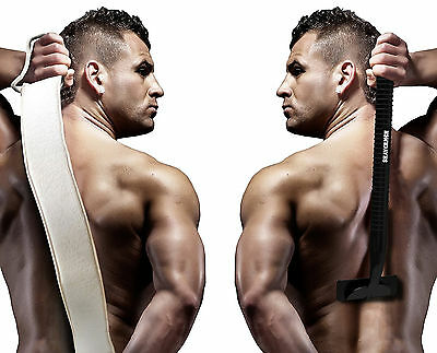 Back Shaver Body Hair Trimmer Groomer Removal Men Male Grooming with Scrubber