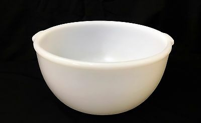 "Vintage Glasbake Mixing Bowl 38 CG Made For Sunbeam Mixers Milk Glass 4.5"" Tall"