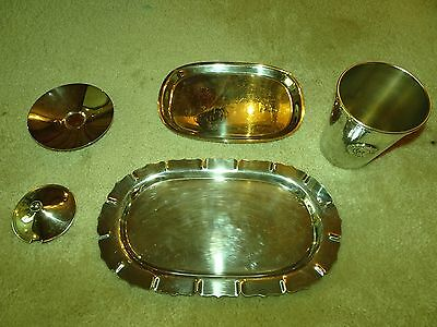Lot of 5 Silver Plate Serving Pieces Dish Tray Cup, Top Onieda, Int'l silver Co