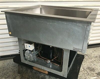 Refrigerated Insulated Cold Buffet Food Drop In 2 Pan Size Wells RCP-200 #6598