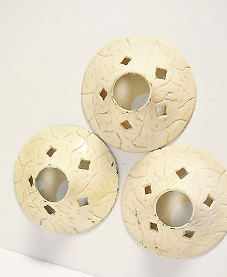Vintage Antique Set Of 3 Art Craft Deco Victorian Ceiling Light Canopy