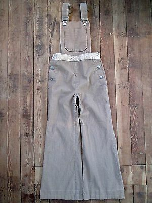 Sears Roebuck VTG Juniors 8 Small Overalls Buckle Jumpsuit Corduroy Cotton 22x23