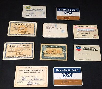 Lot of Vintage Bank of America Bank Cards, Charge Cards And Credit Cards