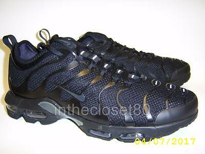 NIKE AIR MAX Plus TN Ultra Tuned 1 Triple Black Anthrac Mens Trainers 898015 005