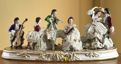 Massive Dresden Figurine - Musical Scene with Six Figures!