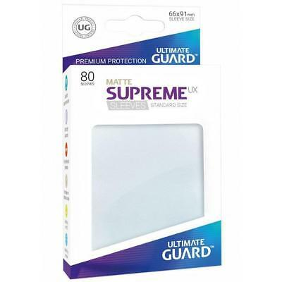 Ultimate Guard Supreme UX Matte Transparent Sleeves Standard Size 66 x 91 80ct