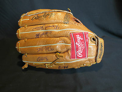 """Rawlings RBG36 12 1/2"""" Glove Right Throw Signed by Skeeter Players Minor League"""
