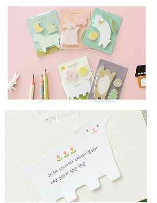 "Cute Design ""Animal"" Sticky Memo/ Sticker/ Post it Notes/ Pad ~ 4 Designs Option"
