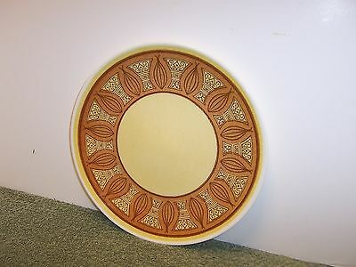 """1 Taylor Smith & Taylor Dinner Plates HONEY GOLD Mid Century 10"""" Plate"""