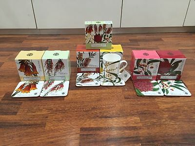 Maxwell Williams Botanic Garden 300 ml Mug Set of 6 Assorted with Coasters GB