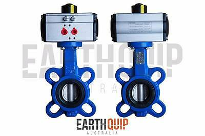 "Pneumatic Butterfly Valve 4""  Double Acting 2 Way Air Operated Watercart Truck"