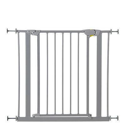 New Hauck Silver Trigger Lock Metal Pressure Fix Safety Stair Gate 75 Cm - 81 Cm