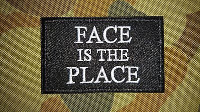Brand New Face Is The Place Grey Tactical Morale Airsoft Patch Australia Seller
