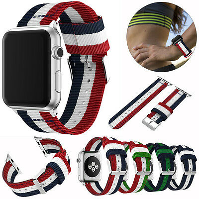 Nylon Fabric Replacement Sport Wrist Band Strap Watchband for Apple Watch iWatch