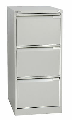 Bisley BS3E High Quality 3-Drawer Filing Cabinet, GOOSE GREY - 10 Year Guarantee