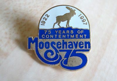 Loyal Order of Moose 1997 Moosehaven 75th Anniversary Contentment Lapel Pin