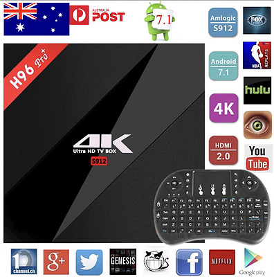H96 Pro+ PLUS 16GB ANDROID 7.1 TV BOX IPTV YOUTUBE PLAYSTORE + KEYBOARD AU