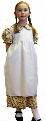 World Book Day-Victorian/Girls EDWARDIAN FLORAL DRESS & APRON SET All Ages