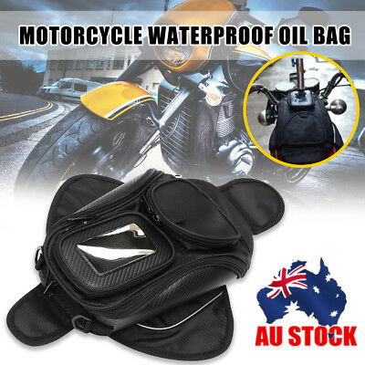 AU Waterproof Magnetic Motorcycle Motorbike Oil Fuel Tank Bag Phone/GPS Pouch